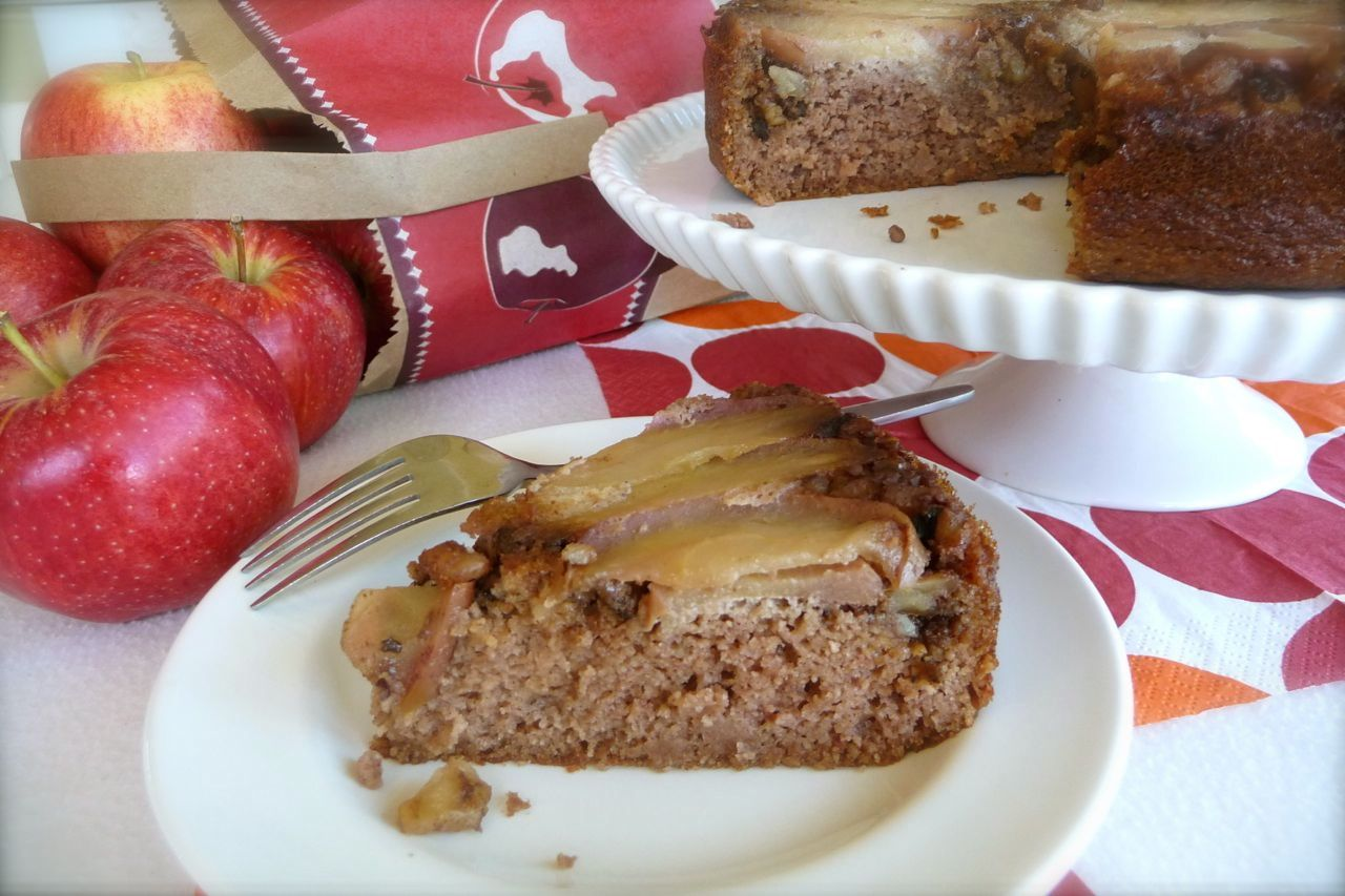 Apple Streusel Upside Down Cake (GF)