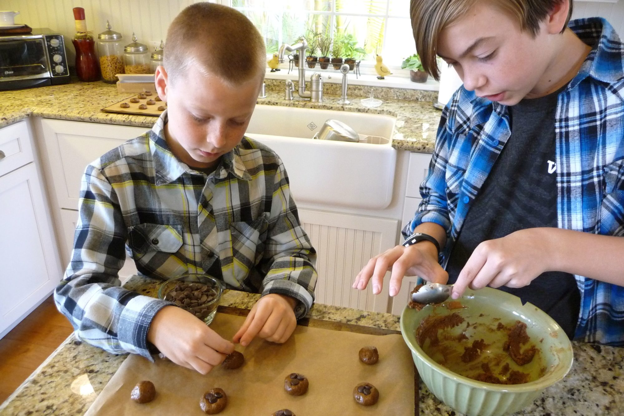 Cookie Boys Making Cookie Balls