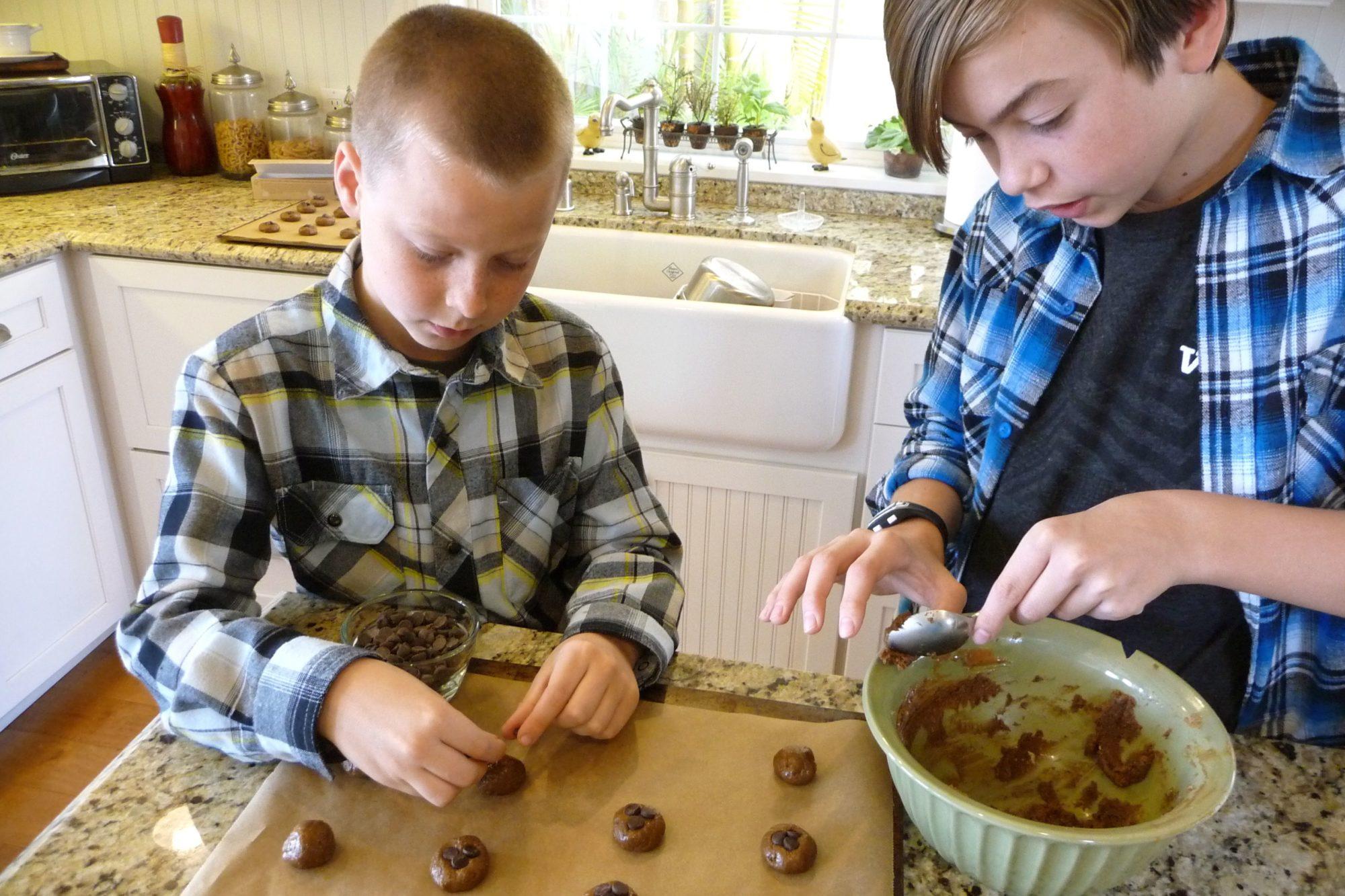Cookie Boys Making Cookie Balls