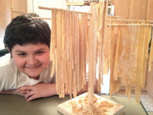 Wardeh's son making fresh homemade pasta! What an awesome real food kid!