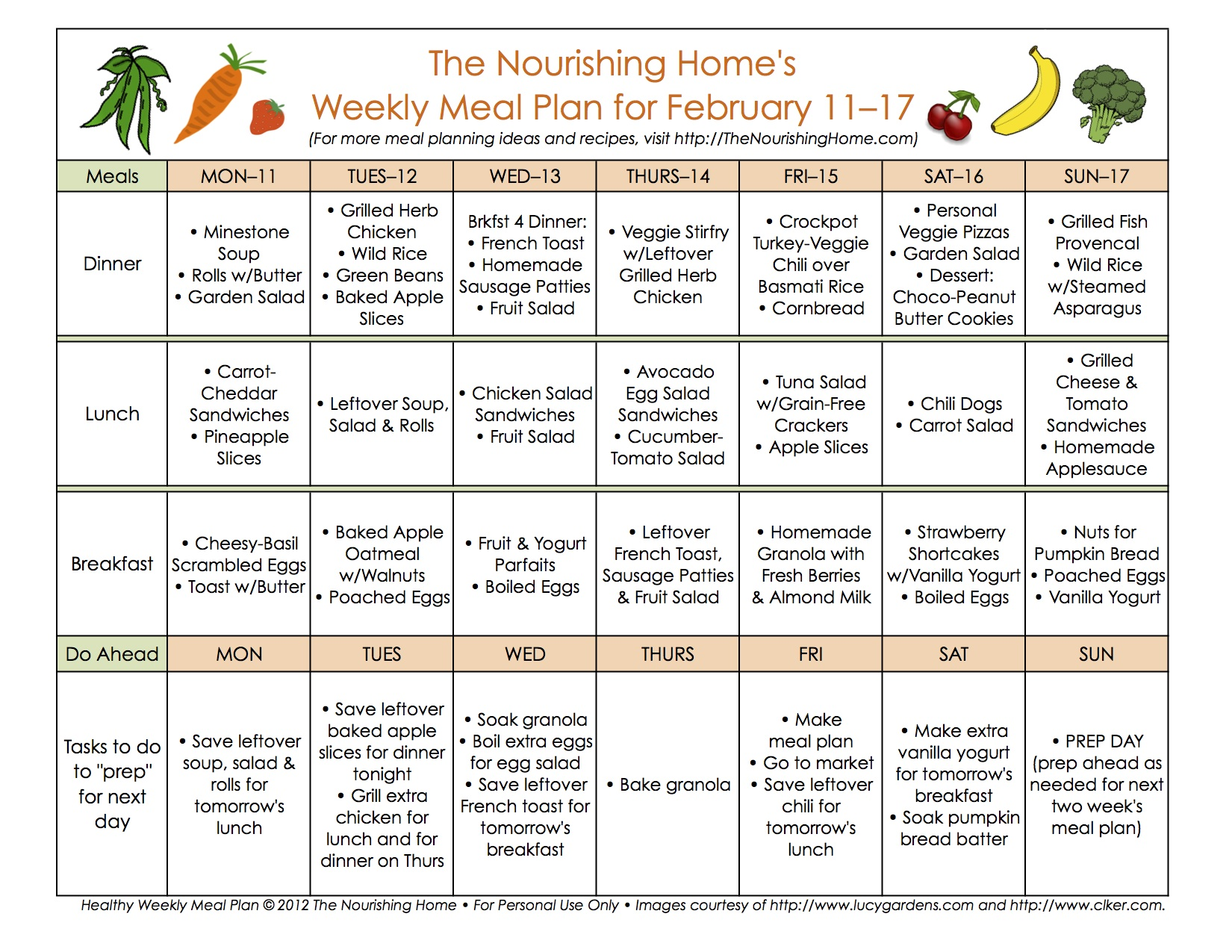 Meal Plans Archives Page 9 Of 16 The Nourishing Home