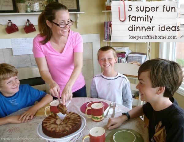 Fun Family Dinner Ideas {Backwards Night & More!}