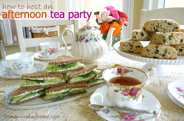 Tips for hosting an afternoon tea party keeper of the for Hosting a party at home