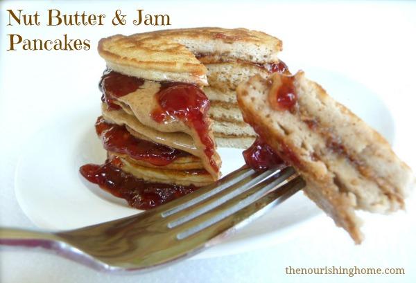 Nut Butter & Jam Pancakes