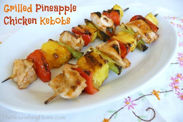 Grilled Pineapple Chicken Kebobs