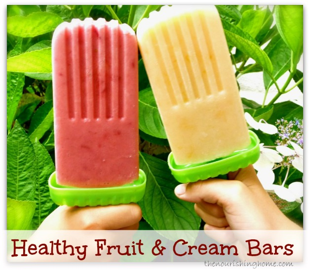 Healthy Fruit & Cream Bars