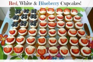Red White & Blueberry Cupcakes