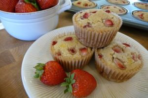 Strawberry Shortcake Muffins Close-Up