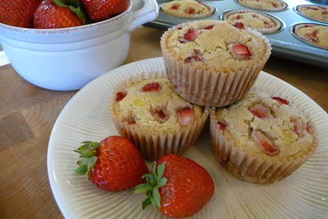 These simple and delicious muffins taste just like their strawberry shortcake! Their light, fluffy texture combined with fresh summer berries accentuated with a touch of lemon make for an almost cupcake-like treat!