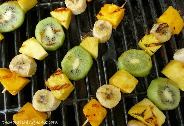 tropical fruit skewers