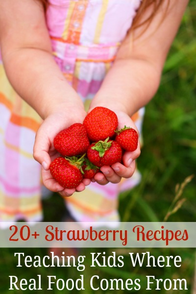Kids love learning where their food comes from. It also helps them be more willing to try new things. These 20 strawberry recipes will definitely help them eat more real foods!