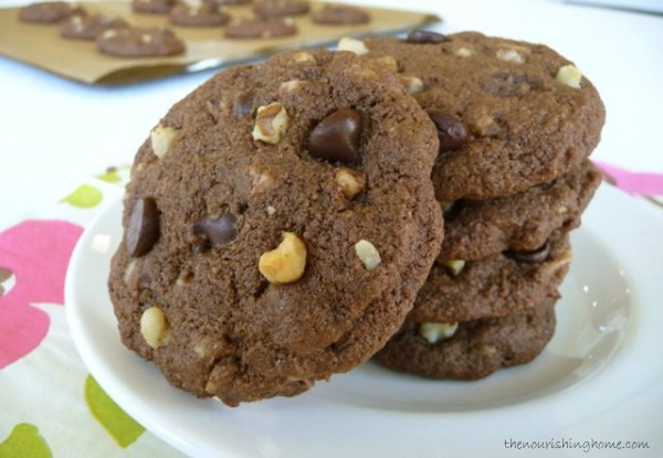 Double Chocolate Chip Cookies TNH
