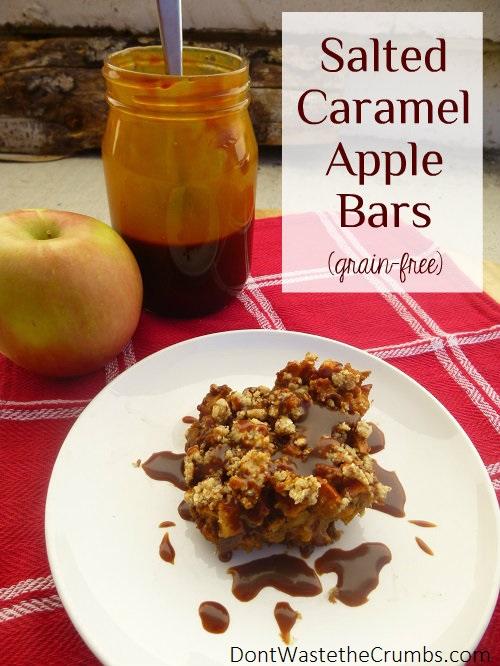 Salted Caramel Apple Bars (GF, DF)