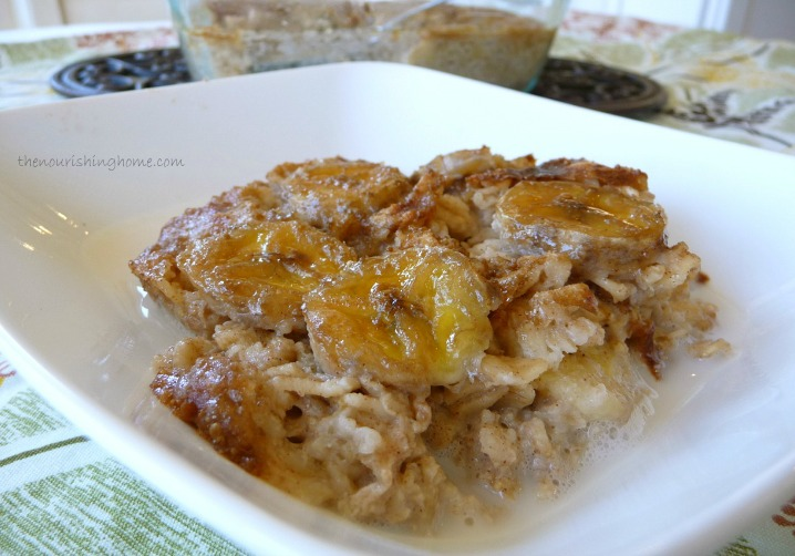... Oatmeal Bake in the oven. That's because it's so creamy and