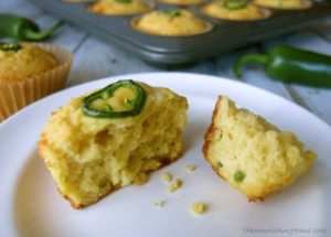 Grain-Free Chile Cheese Cornbread close up