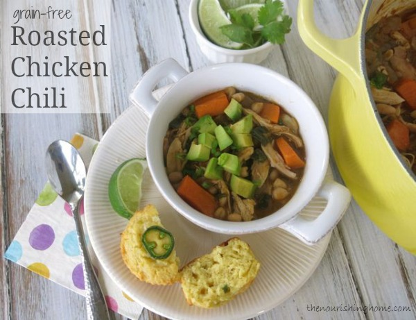 Roasted Chicken Chili (grain-free)