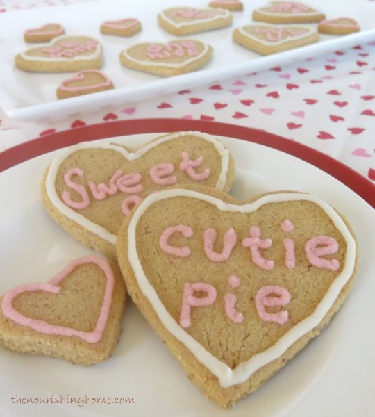 Grain Free Conversation Heart Cookies