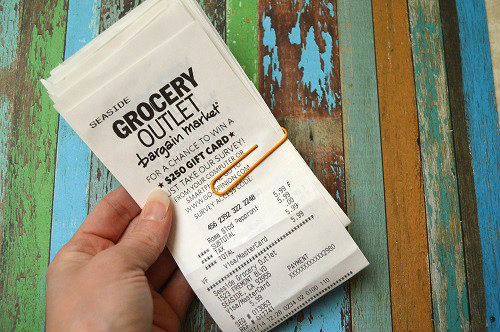 Receipts Paperclipped