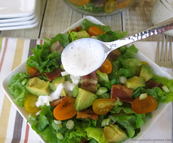 Bacon, Lettuce & Tomato Salad {with Avocado & Ranch} - The ...