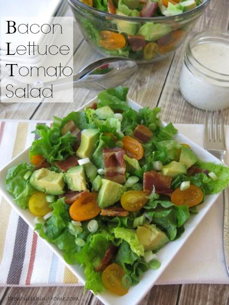 Bacon, Lettuce & Tomato Salad (with Avocado) The Nourishing Home
