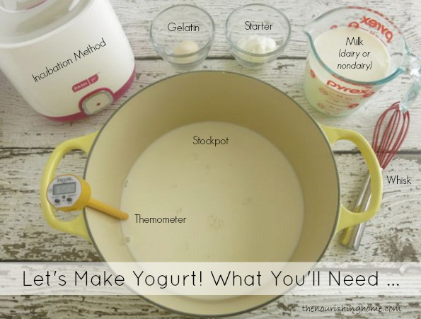 This recipe photo tutorial teaches an easier way to achieve thick, creamy dairy and non-dairy Greek-Style Yogurt no straining required. Can you guess the secret?