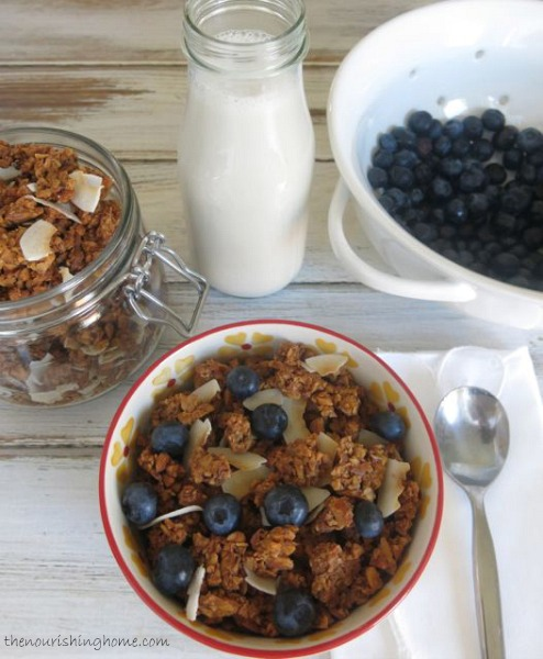 One crunchy bite is all it takes to become completely smitten with this grain free granola. Its cinnamony flavor and rich vanilla undertones is a delight!