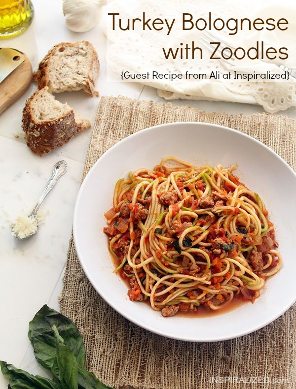 This amazing Turkey Bolognese with Zoodles is an amazing pasta make-over recipe. You won't miss the pasta at all!