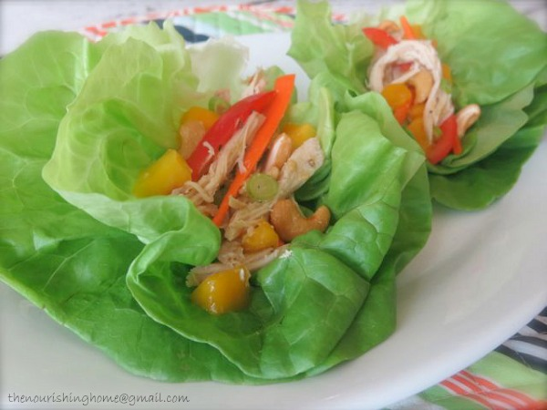 Mango Chicken Wrap from Happy Mom, Healthy Family