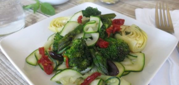 Veggie Saute with Zoodle Ribbons