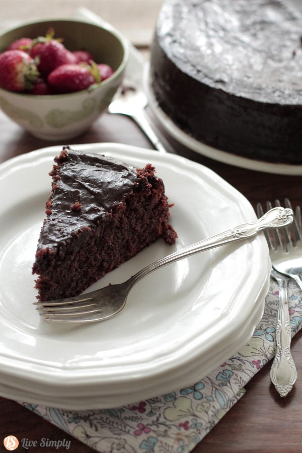Grain-Free Chocolate Cake from Live Simply