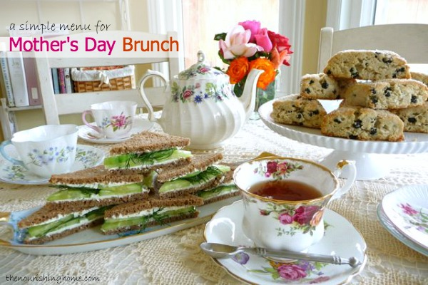 Simple Mother's Day Brunch Menu