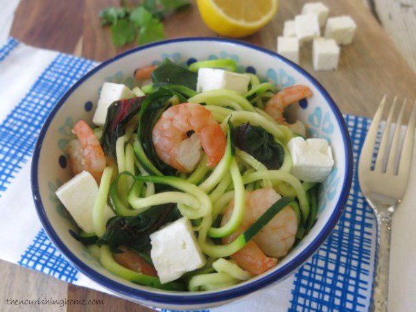 Swiss-Chard-and-Shrimp-Sauté-with-Zoodles