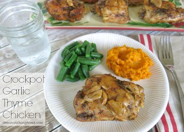 Crockpot Garlic Thyme Chicken