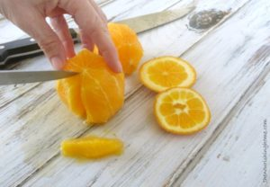Cut out each section of citrus