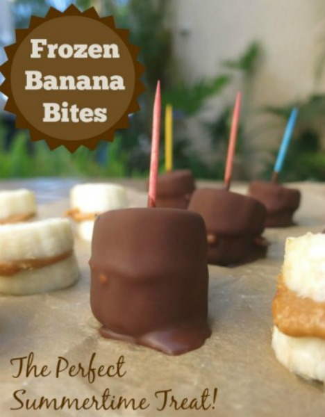 These super easy Frozen Banana Bites – made with homemade magic shell topping – literally take just minutes to make, and seconds to eat!