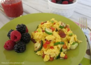 Veggie Egg Scramble Close Up