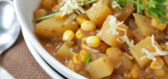 Mexican Corn and Potato Chowder