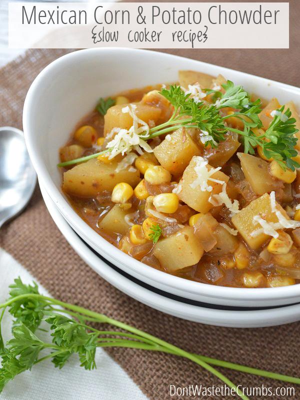 Mexican Corn and Potato Chowder