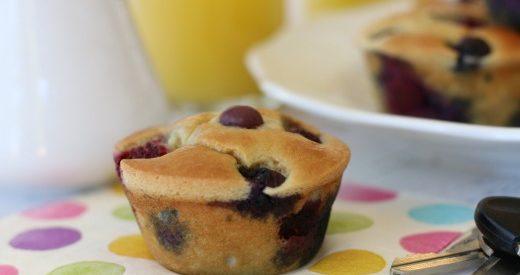 6 pancake muffins CloseUp