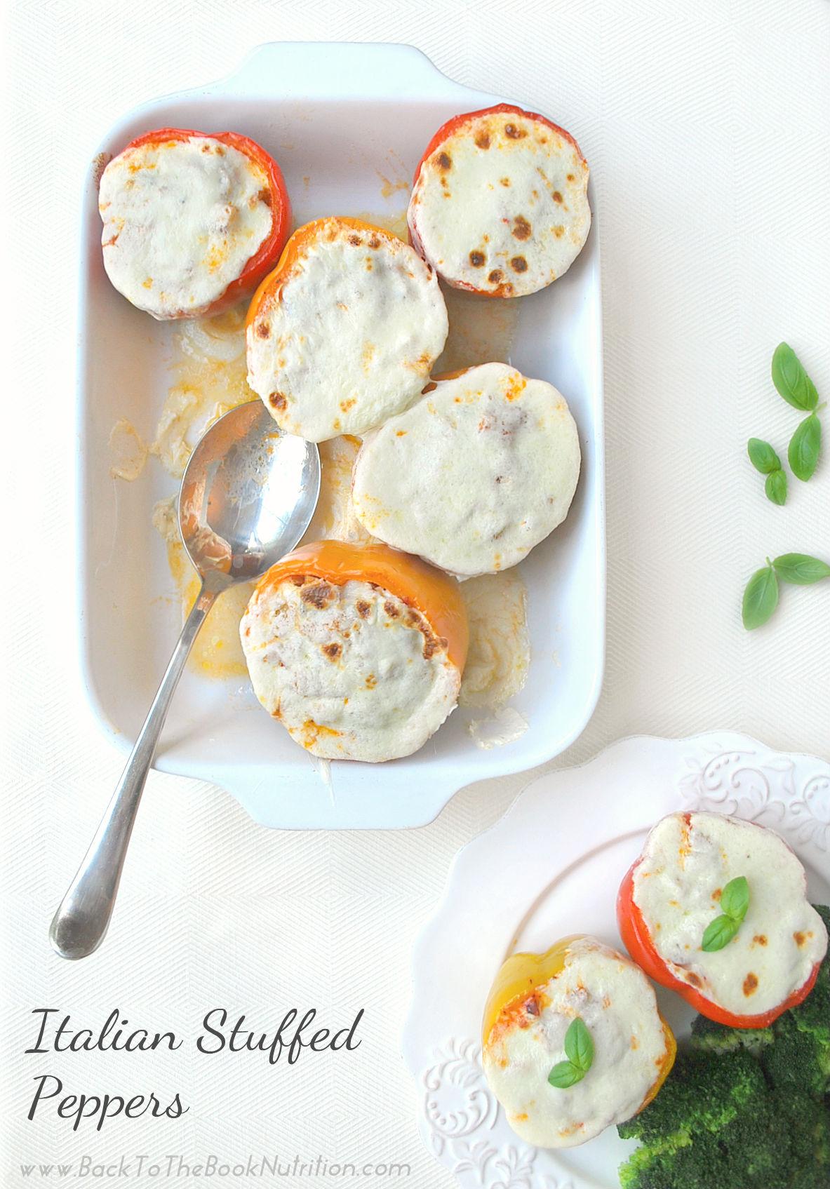 Italian Stuffed Peppers in pan 2