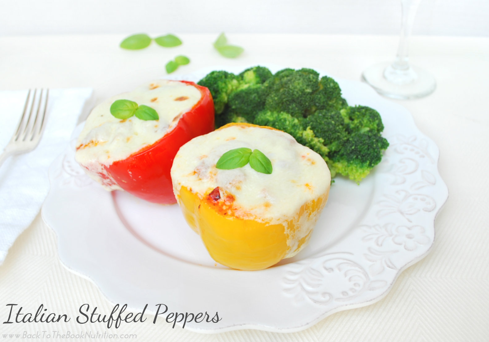Italian Stuffed Peppers on Plate