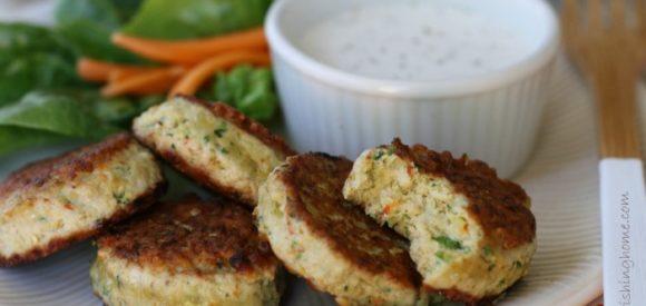 Chicken & Veggie Bites Close Up