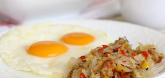 Simple Healthy Hash Browns Close Up