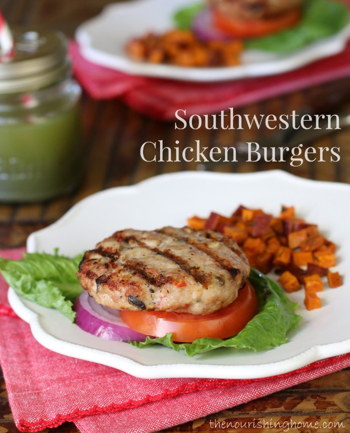 Break up the burger boredom with these Southwestern Chicken Burgers! And you'll love the toppings as much as you'll love the burgers!