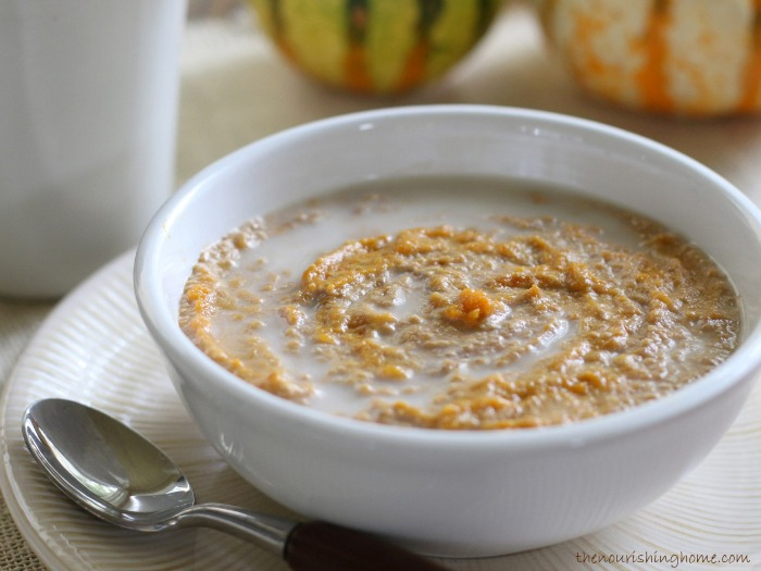 Pumpkin Pie Porridge Grain-Free Dairy-Free