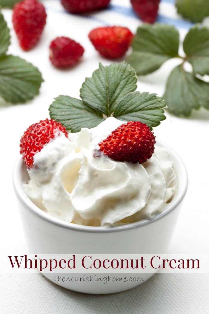 Whipped coconut cream is the perfect replacement for dairy-based whipped toppings, since it's just as smooth and light. Plus, it takes just minutes to whip up.