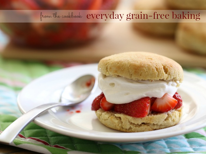 This simple, yet decadent, grain free strawberry shortcake biscuit recipe is one of my family's favorite examples of how easy it is to transform a classic favorite into a healthy grain-free treat everyone loves!
