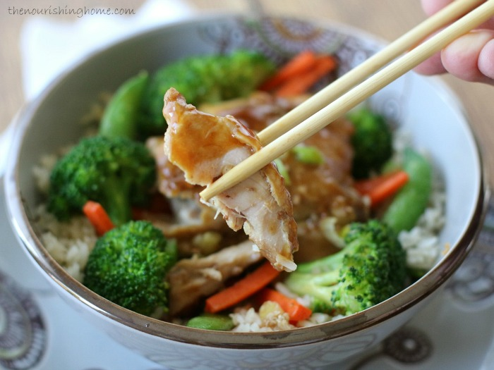 This healthy and flavorful Soy-Free Teriyaki Chicken is super easy to make because your crockpot practically does all the work for you!