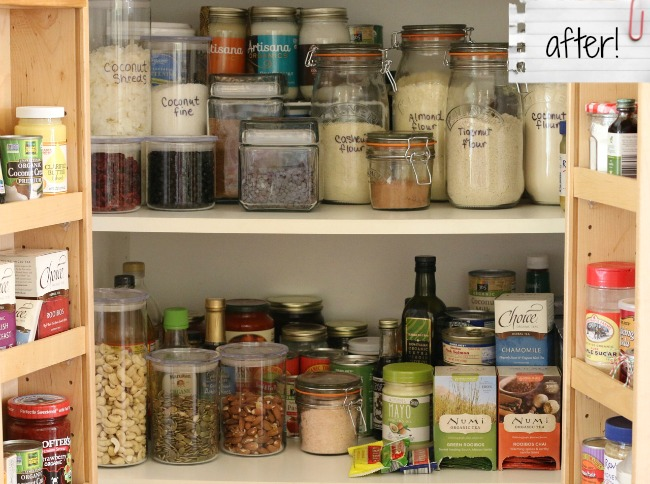 Pantry Makeover After!