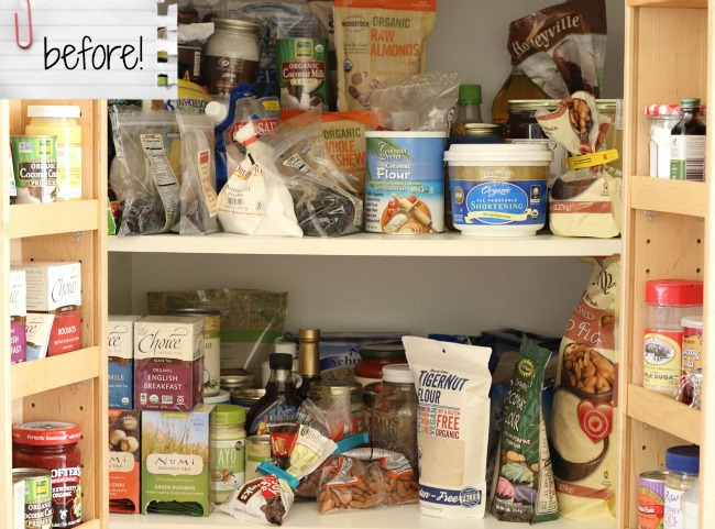 Pantry Makeover Before!